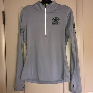 Nike Green Bay Packers Quarter Zip Jacket